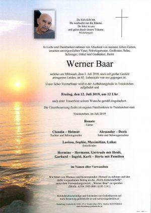 Portrait von BAAR Werner