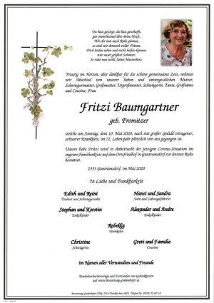 Portrait von BAUMGARTNER Fritzi