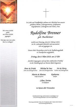 Portrait von BRENNER Rudolfine