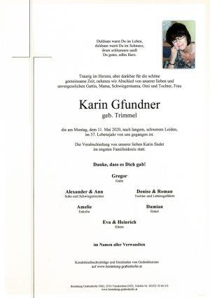 Portrait von GFUNDNER Karin