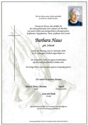 Portrait von HAUS Barbara