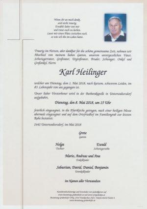 Portrait von HEILINGER Karl