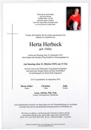 Portrait von HERBECK Herta