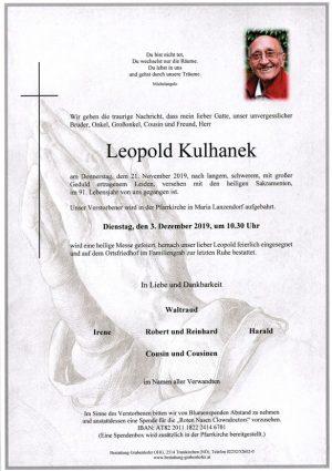 Portrait von KULHANEK Leopold
