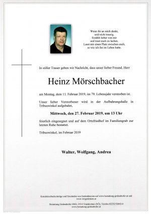 Portrait von MÖRSCHBACHER Heinz