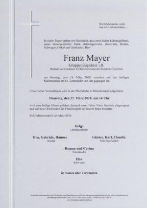Portrait von MAYER Franz