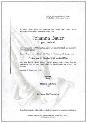 Portrait von BAUER Johanna
