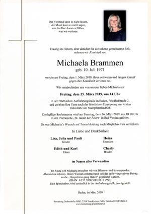 Portrait von BRAMMEN Michaela