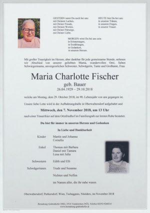 Portrait von FISCHER Maria Charlotte