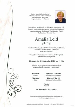 Portrait von LEITL Amalia