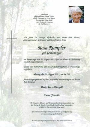 Portrait von RUMPLER Rosa