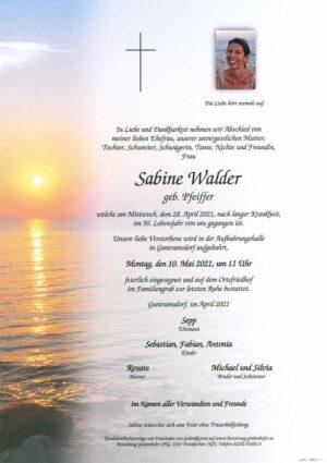 Portrait von WALDER Sabine