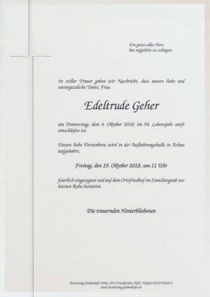 Portrait von GEHER Edeltrude