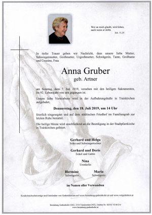 Portrait von GRUBER Anna