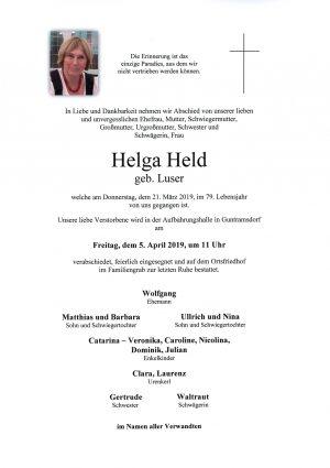 Portrait von HELD Helga