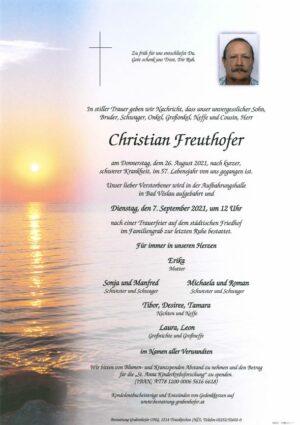 Portrait von FREUTHOFER Christian