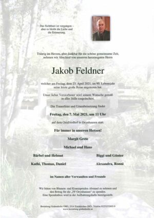 Portrait von FELDNER Jakob