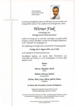 Portrait von FINK Werner