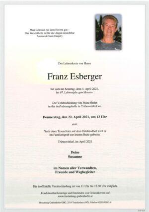 Portrait von ESBERGER Franz