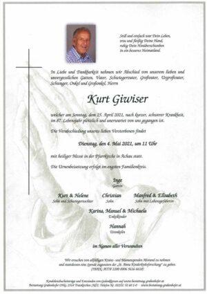 Portrait von GIWISER Kurt