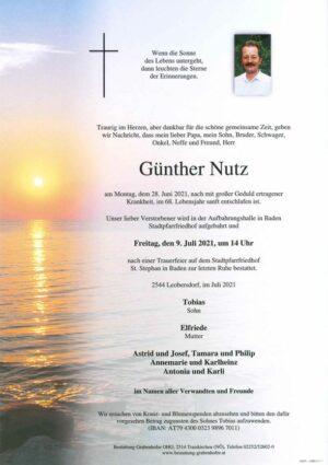 Portrait von NUTZ Günther