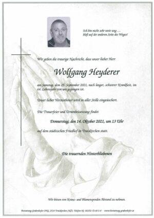 Portrait von HEYDERER Wolfgang