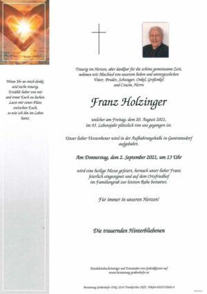 Portrait von HOLZINGER Franz