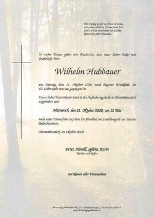 Portrait von HUBBAUER Wilhelm
