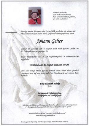 Portrait von GEHER Johann
