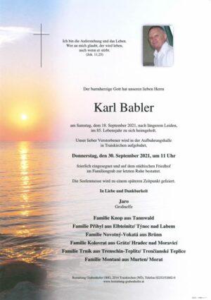 Portrait von BABLER Karl