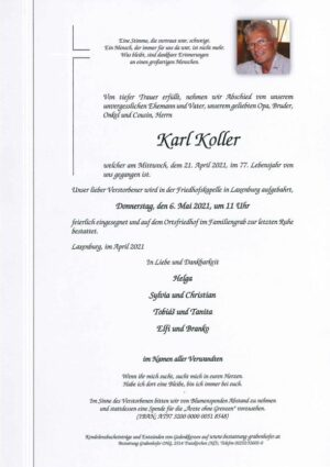 Portrait von KOLLER Karl
