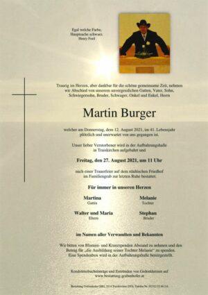 Portrait von BURGER Martin