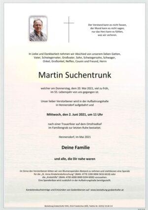 Portrait von SUCHENTRUNK Martin
