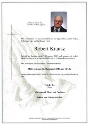Portrait von KRAUSZ Robert