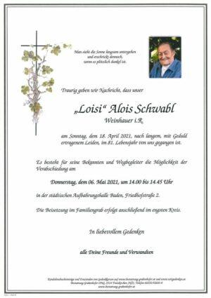 """Portrait von SCHWABL Alois """"Loisi"""""""
