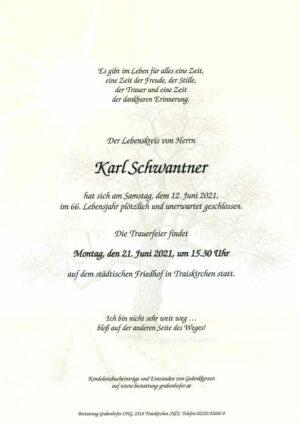 Portrait von SCHWANTNER Karl