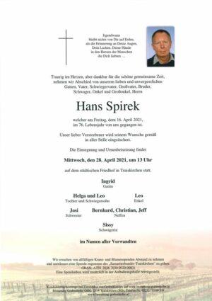 Portrait von SPIREK Hans