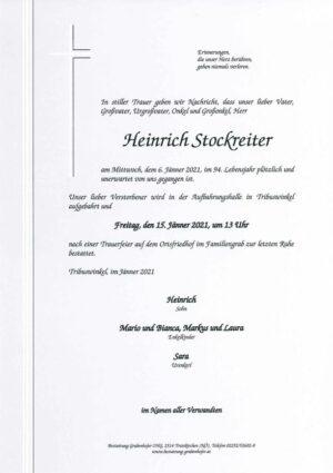 Portrait von STOCKREITER Heinrich