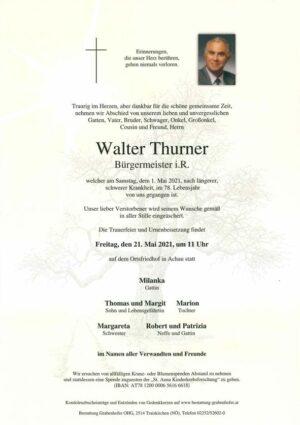 Portrait von THURNER Walter