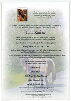 Portrait von KALTEIS Julia
