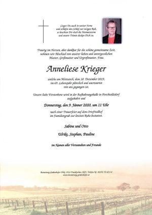 Portrait von KRIEGER Anneliese