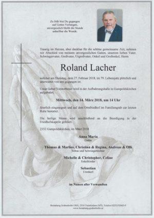 Portrait von LACHER Claus Roland
