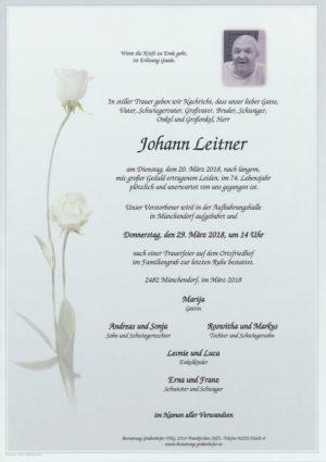 Portrait von LEITNER Johann
