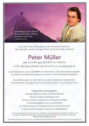 Portrait von MÜLLER Peter