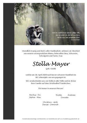 Portrait von MAYER Stella