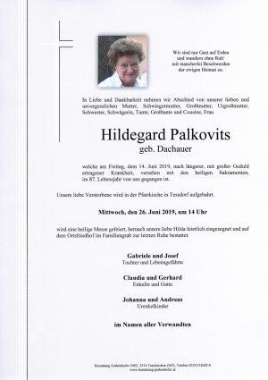 Portrait von PALKOVITS Hildegard