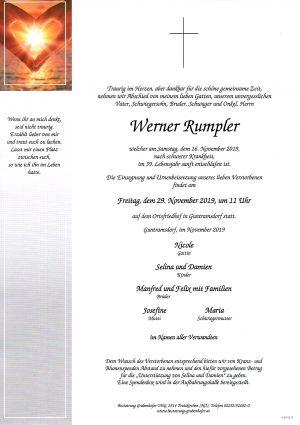 Portrait von RUMPLER Werner