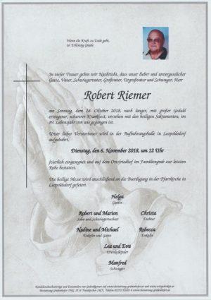 Portrait von RIEMER Robert
