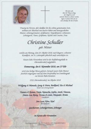 Portrait von SCHULLER Christine