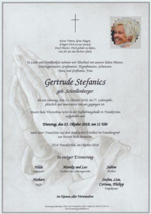 Portrait von Gertrude Stefanics